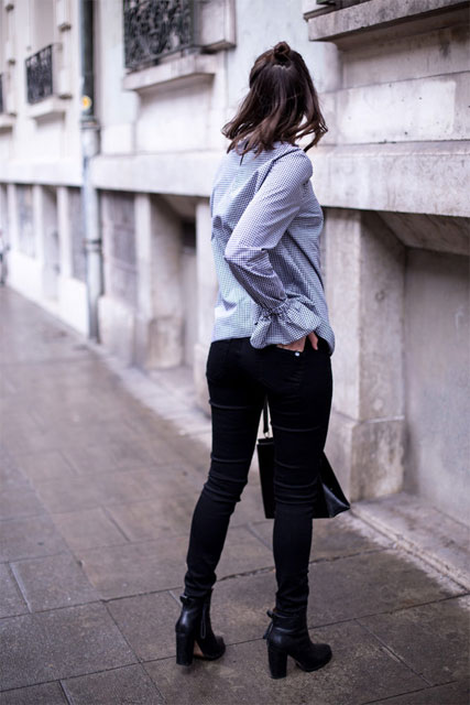 Blouse Vichy & Jeans Made in France