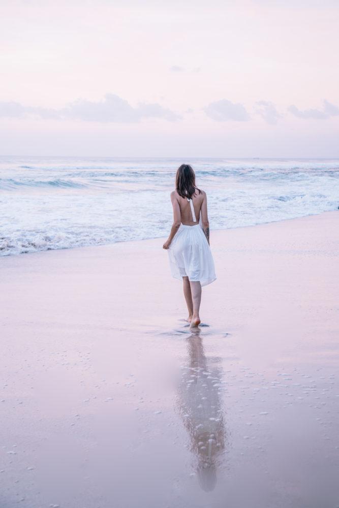 Robe blanche fabriquée éthiquement • Dreamland, Bali