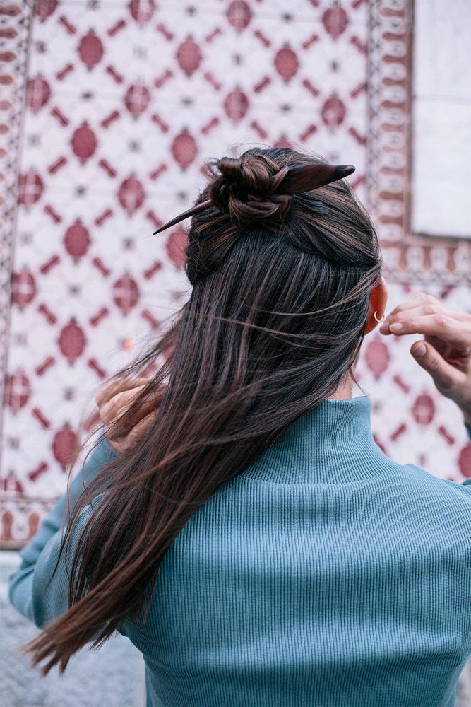 Barrette Écologique • 3 Idées Coiffure Avec Pic À Cheveux Saya Designs