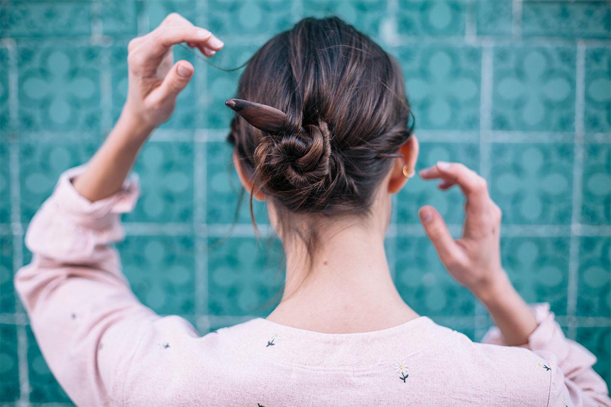en ligne à la vente nouvelle version juste prix Barrette Écologique • 3 Idées Coiffure Avec Pic À Cheveux ...