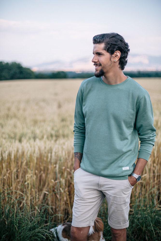 Sweatshirt homme en coton bio