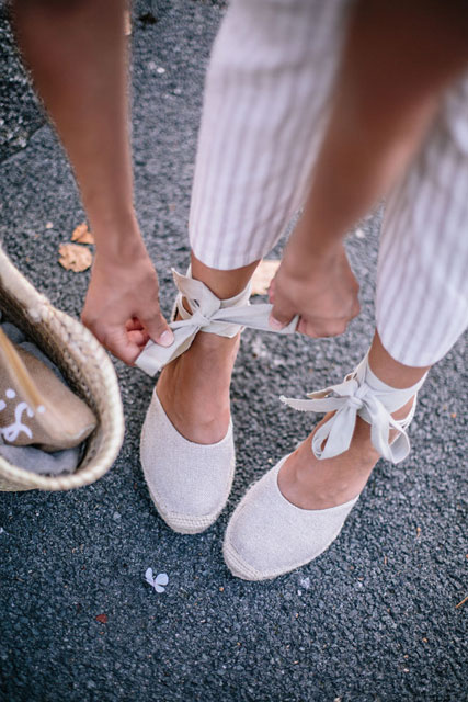 From day to night : on garde les espadrilles & le panier