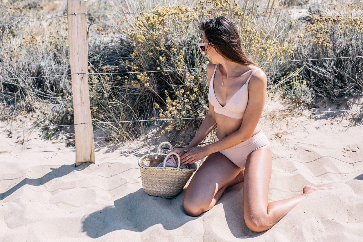 sous-vêtements en coton bio rose nude (existent en noir) • Bloomers.eco