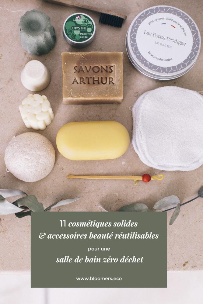 11 cosmétiques solides & accessoires beauté réutilisables pour une salle de bain zéro déchet | Bloomers.eco