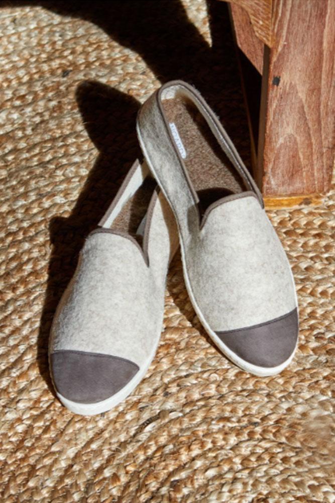 Des chaussons pour Homme chauds et doux éco-responsables