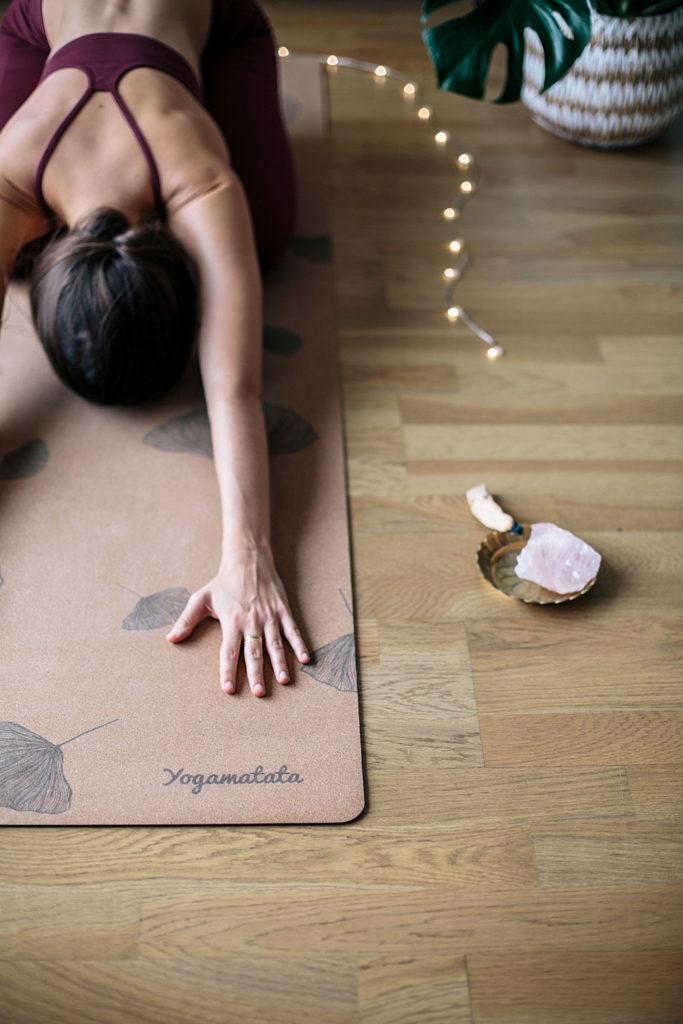 tapis de yoga en liège écologique