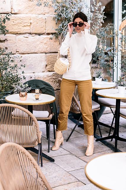 Ma tenue beige éco-responsable d'intersaison idéale