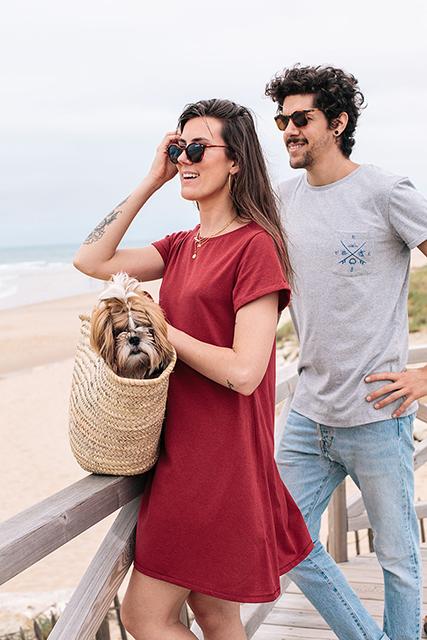 Virée à la plage dans nos vêtements recyclés Shak & Kai